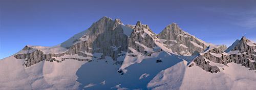 Bergkette 3D Grafik